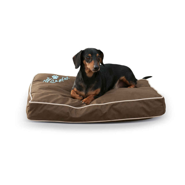 "K&H Pet Products Just Relaxin' Indoor/Outdoor Pet Bed Small Chocolate 18"" x 26"" x 3.5"""