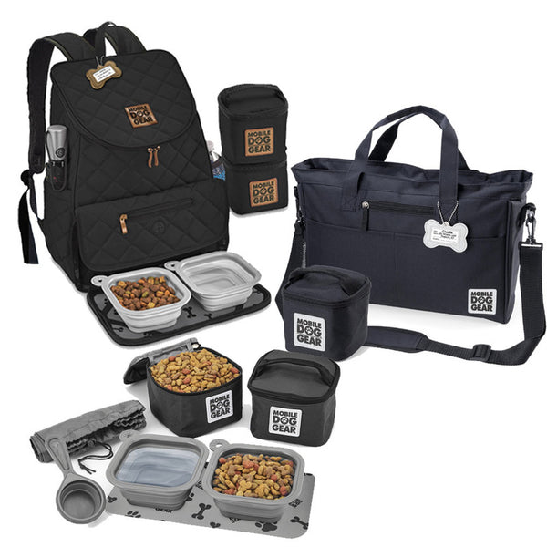 MDG Bundle: Day Away Tote Bag, Dine Away Set (S) and Backpack (Black).