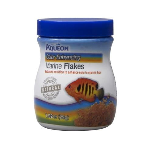 Aqueon Color Enhancing Marine Flakes 1.02oz.