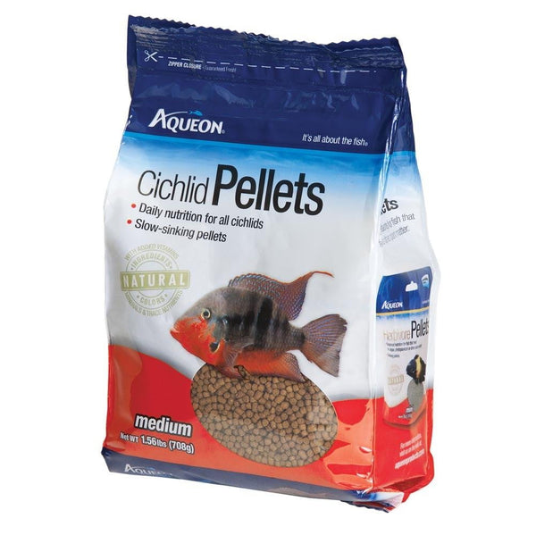 Aqueon Cichlid Pellets Resealable Pouch Medium 25oz - Leaderpetsupply.com