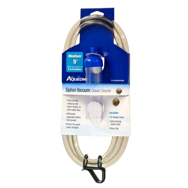 Aqueon Siphon Vacuum Gravel Cleaner Medium 5in.