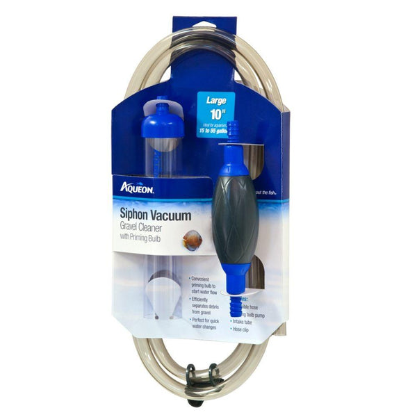 Aqueon Siphon Vacuum Gravel Cleaner with Priming Bulb Large 10in.