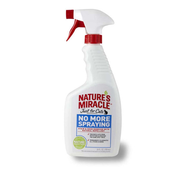 Natures Miracle Just for Cats No More Spraying Stain & Odor Remover Spray 24oz.