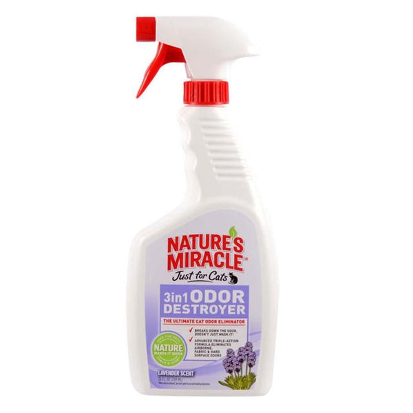 Nature's Miracle Just for Cats 3in1 Odor Destroyer Lavender 24oz.