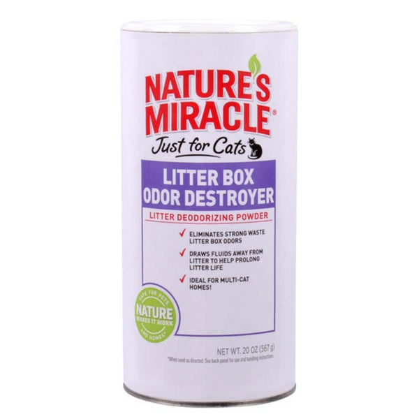 Nature's Miracle Just for Cats Litter Box Odor Destroyer Deodorizing Powder 20oz.