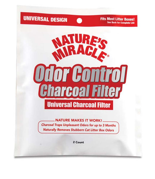 Natures Miracle Just for Cats Odor Control Universal Charcoal Filter 2pk.
