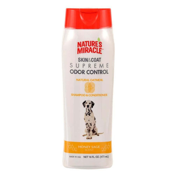 Nature's Miracle Supreme Odor Control Natural Oatmeal Shampoo-Conditioner 16oz.