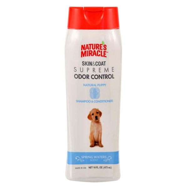 Nature's Miracle Supreme Odor Control Natrual Puppy Shampoo-Conditioner 16oz.