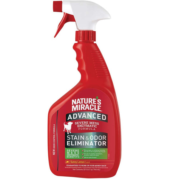 Nature's Miracle Advanced Stain & Odor Remover Sunny Lemon Spray 32oz.