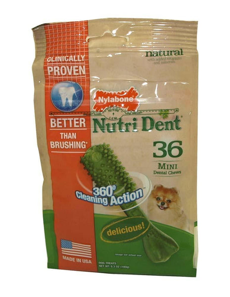 Nylabone Nutri Dent Minichews Pouch 36ct - Leaderpetsupply.com