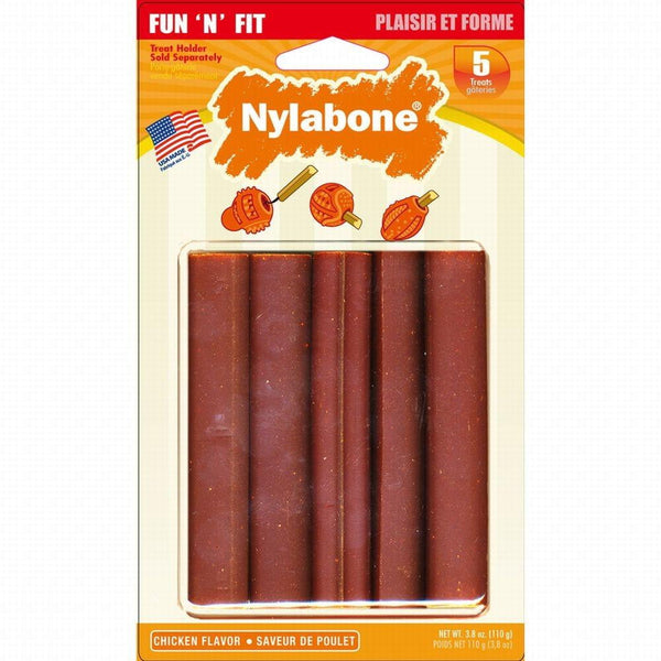 Nylabone Fun N Fit Natural Chicken Treats Small 5ct - Leaderpetsupply.com