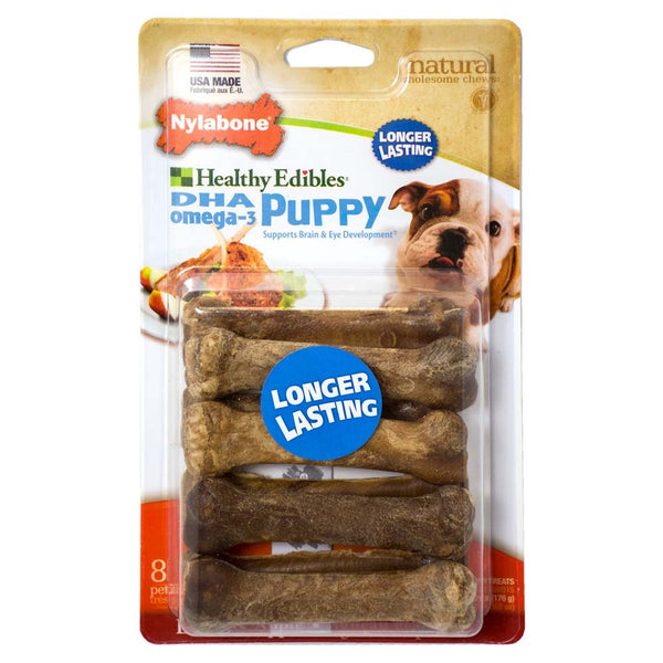 Nylabone Healthy Edibles Puppy Longer Lasting Lamb & Apply Petite 8ct