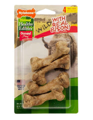 Healthy Edibles Wild Bison Bone Small 4ct - Leaderpetsupply.com