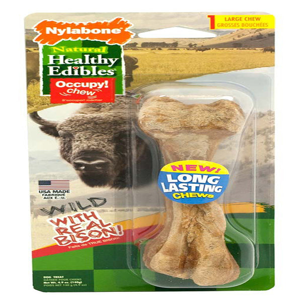 Healthy Edibles Wild Bison Bone Large.