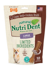 Nutrident Filet Mignon Dental Chew Treat Large Pouch 10ct