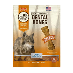 Nylabone Primal Instinct Dental Chicken Large 6ct.