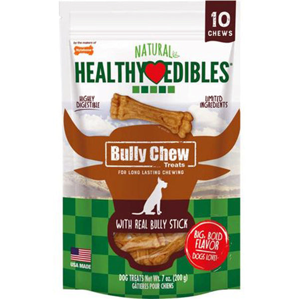Nylabone Natural Healthy Edibles Bully Chews Small 10ct.
