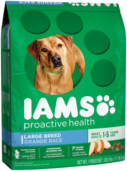 IAMS PROACTIVE HEALTH Large Breed Adult Dry Dog Food 38.5 Pounds.