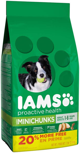 IAMS PROACTIVE HEALTH Adult MiniChunks Dry Dog Food 7 Pounds