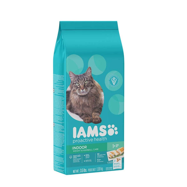 IAMS ProActive Health Adult Indoor Weight & Hairball Care Cat Food 3.5lb.