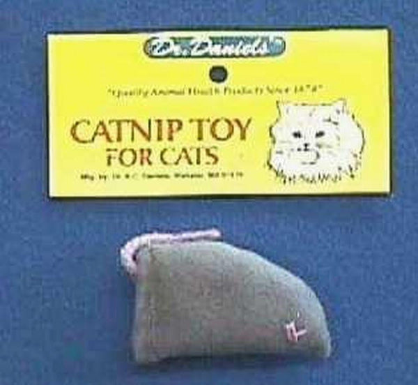 Dr. Daniels' Gray Flannel Catnip Mouse Case of 12