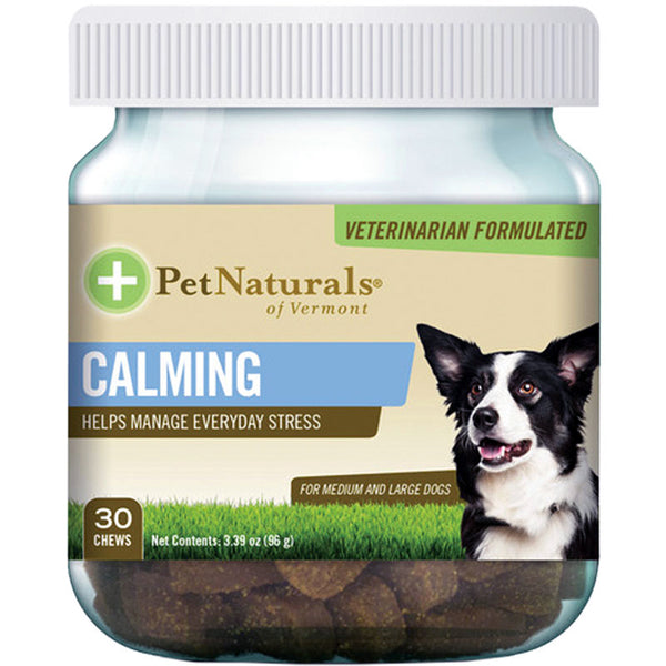 PET NATURALS OF VERMONT DOG CHEW CALMING MEDIUMLARGE 30 COUNT.