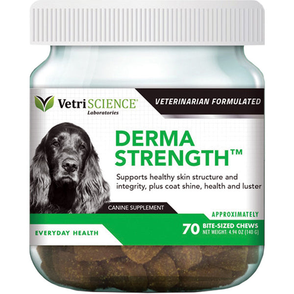 VETRISCIENCE DOG DERMA STRENGTH 70 COUNT.
