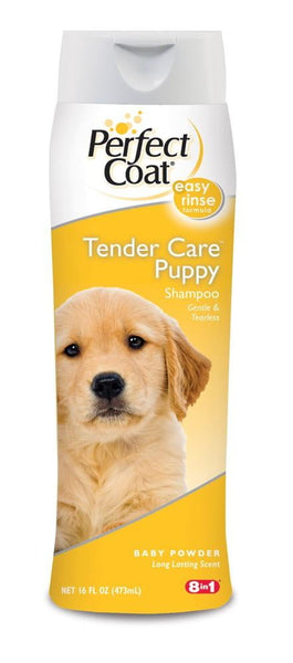 8 in 1 Perfect Coat Tender Care Puppy Shampoo 16oz.