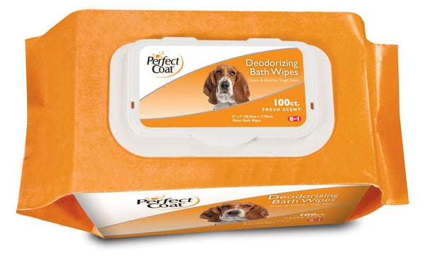 8 in 1 Perfect Coat Bath Wipes Dog Deodorizing 100ct - Dog - 8 in 1 Pet Products - Leaderpetsupply.com