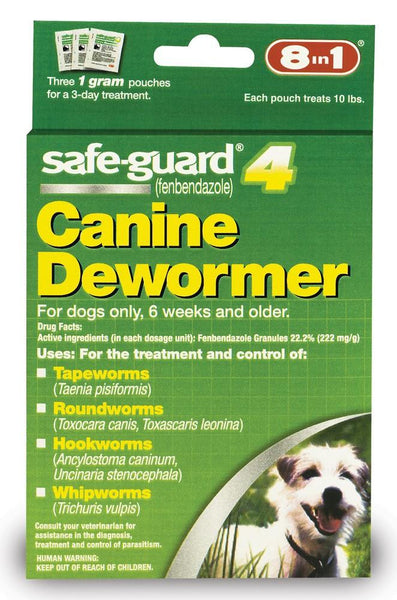 8 in 1 Safeguard 4 Canine Dewormer for Small Dogs 1gm - Dog - 8 in 1 Pet Products - Leaderpetsupply.com