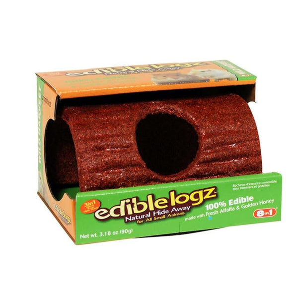 8 in 1 Wild Harvest Chewable Log Small - Small Animal - 8 in 1 Pet Products - Leaderpetsupply.com