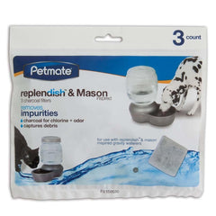 Petmate Replenish Charcoal 3 Pack Filter - Dog - Leaderpetsupply.com - Leaderpetsupply.com