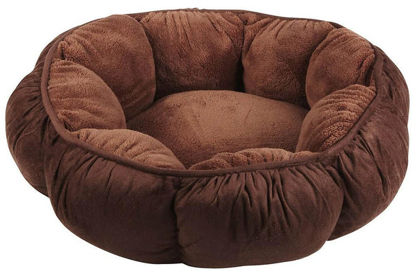 Aspen Pet Puffy Round Cat Bed Assorted - Cat - Aspen - Leaderpetsupply.com