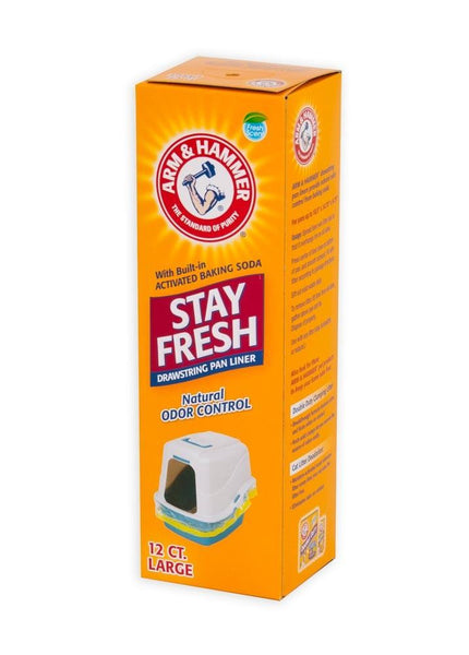 Arm & Hammer Hi Back Drawstring Liner 12ct Large - Cat - Arm & Hammer - Leaderpetsupply.com
