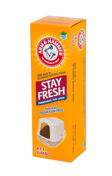Arm & Hammer Hi Back Drawstring Liner 8ct Jumbo - Cat - Arm & Hammer - Leaderpetsupply.com