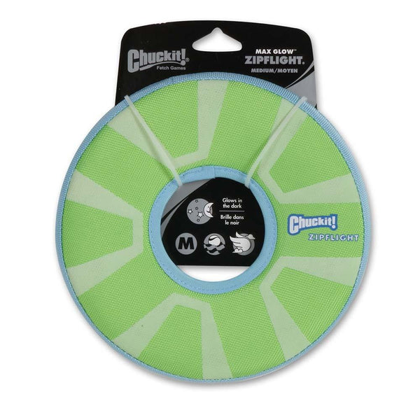 Chuckit! Max Glow Zipflight Medium - Dog - Chuckit! - Leaderpetsupply.com