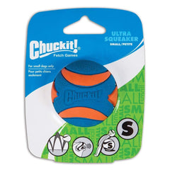 Chuckit! Ultra Squeaker Ball Small - Dog - Chuckit! - Leaderpetsupply.com