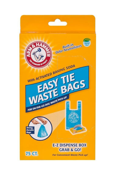 Arm & Hammer Easy-tie Waste Bags Blue 75ct - Dog - Arm & Hammer - Leaderpetsupply.com