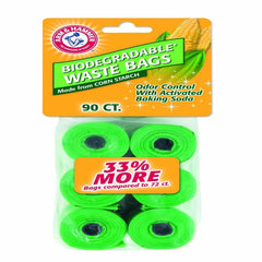 Arm & Hammer Biodegradable Waste Bag Refills 90Ct - Leaderpetsupply.com