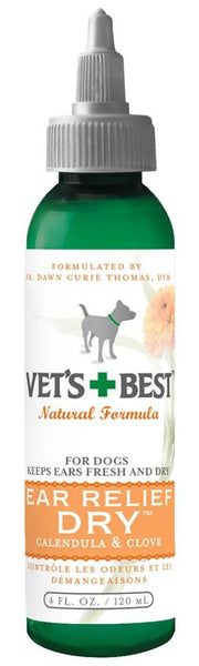 Veterinarian's Best Ear Relief Dry 4oz - Dog - Vets Best - Leaderpetsupply.com