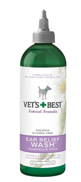 Veterinarian's Best Ear Relief Wash 16oz - Dog - Vets Best - Leaderpetsupply.com