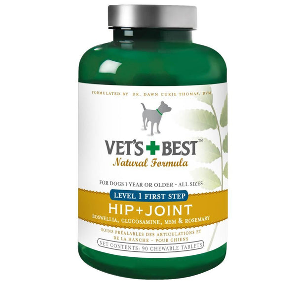 Veterinarian's Best Level 1 First Step Hip and Joint 90 Tabs - Dog - Vets Best - Leaderpetsupply.com