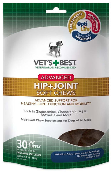 Vet's Best Advanced Hip + Joint Soft Chews 30ct - Dog - Vets Best - Leaderpetsupply.com