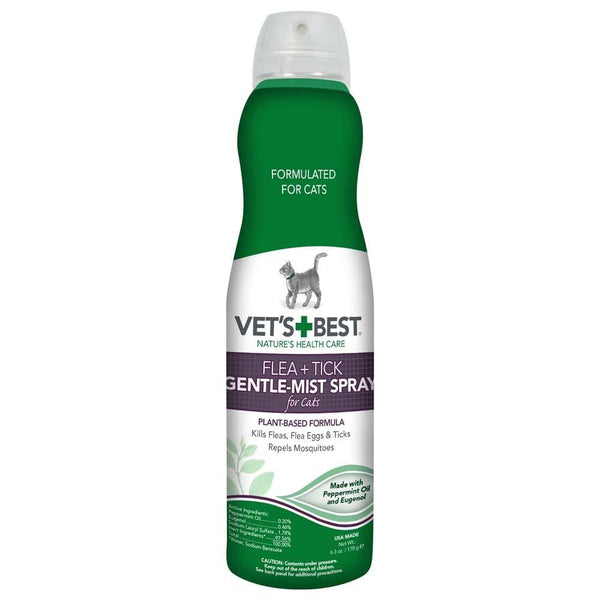 Vet's Best Flea + Tick Gentle Mist Spray for CATS 6.3oz