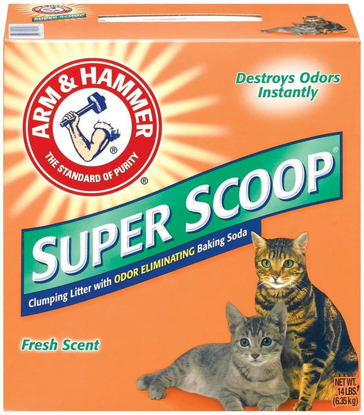 Arm & Hammer Super Scoop Clumping Litter 14lb-Case of 3 - Cat - Arm & Hammer - Leaderpetsupply.com