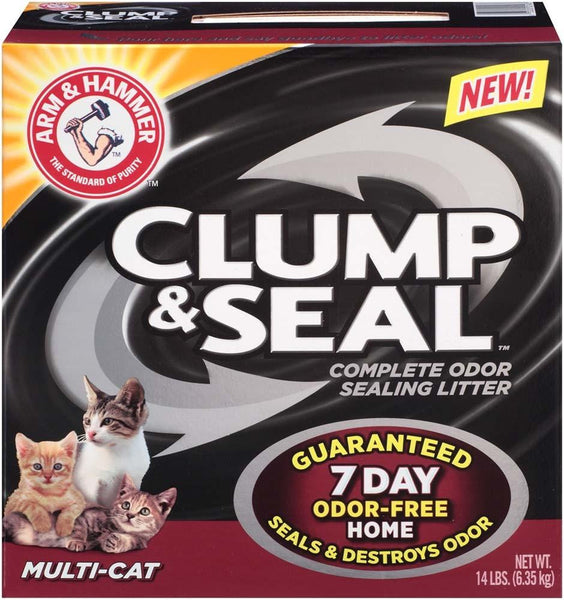 Arm & Hammer Clump & Seal Multi-Cat 14lb-Case of 3 - Cat - Arm & Hammer - Leaderpetsupply.com