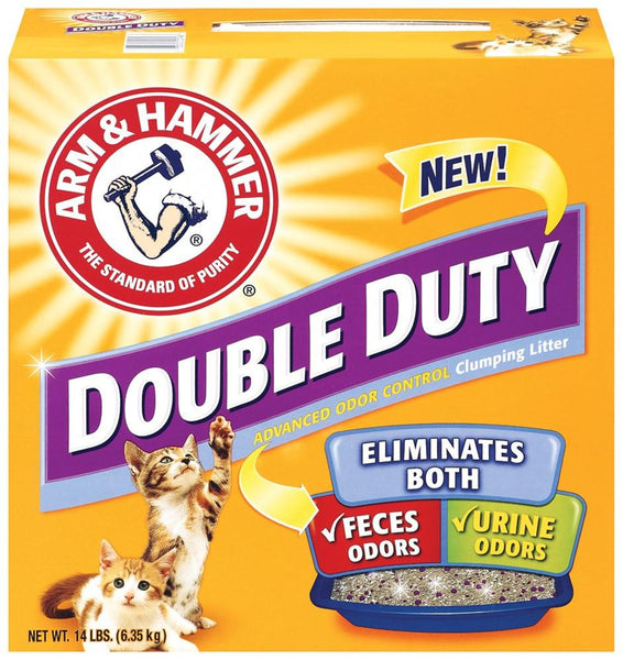Arm & Hammer Double Duty Clumping Litter 14lb-Case of 3 - Cat - Arm & Hammer - Leaderpetsupply.com