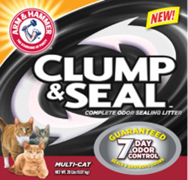 Arm & Hammer Clump & Seal Multi-Cat 28lb - Cat - Arm & Hammer - Leaderpetsupply.com