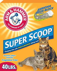 Arm & Hammer Super Scoop Clumping Unscented Litter 40lbs - Cat - Arm & Hammer - Leaderpetsupply.com