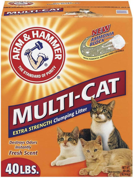 Arm & Hammer Multi Cat Strength Clumping Litter 40lb - Cat - Arm & Hammer - Leaderpetsupply.com